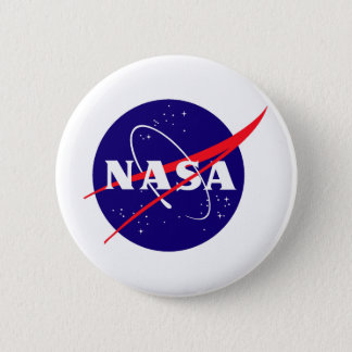 NASA Meatball Logo Pinback Button