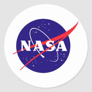 NASA Meatball Logo Stickers