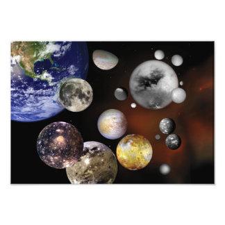 NASA múltiple del arte del espacio de las lunas Fotografía