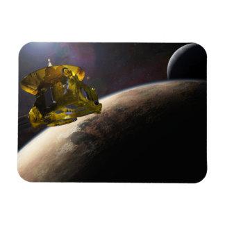 NASA New Horizons Craft in Space Rectangular Photo Magnet