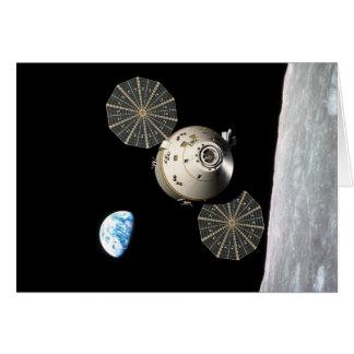 NASA Orión en órbita lunar Tarjeta De Felicitación