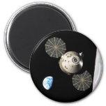 NASA Orion in Lunar Orbit 2 Inch Round Magnet