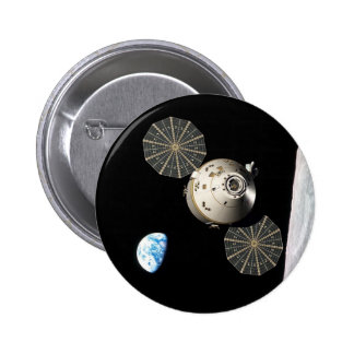 NASA Orion in Lunar Orbit 2 Inch Round Button