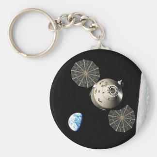 NASA Orion in Lunar Orbit Basic Round Button Keychain