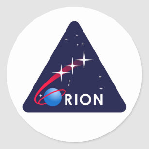 NASA Orion Logo Classic Round Sticker