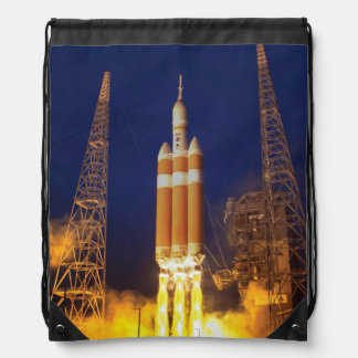 NASA Orion Spacecraft Rocket Launch Drawstring Backpack