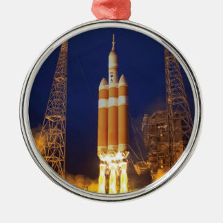 NASA Orion Spacecraft Rocket Launch Metal Ornament