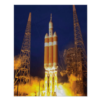 NASA Orion Spacecraft Rocket Launch Poster