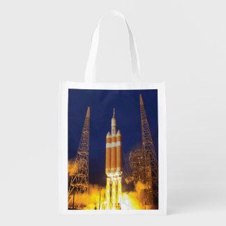 NASA Orion Spacecraft Rocket Launch Reusable Grocery Bag