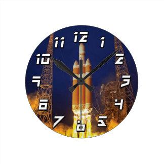 NASA Orion Spacecraft Rocket Launch Round Clock