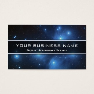 NASA Photo of Pleiades - Business Card