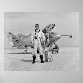 NASA: Pilot Major Cecil Powell & X24-A Posters