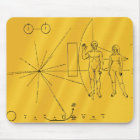 NASA Pioneer 10 Space Probe Gold Plaque Mouse Pad