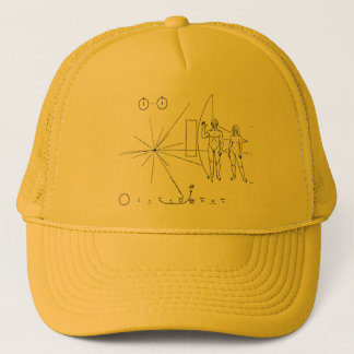 NASA Pioneer 10 Space Probe Gold Plaque Trucker Hat