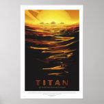 NASA - Poster retro del viaje del viaje del titán