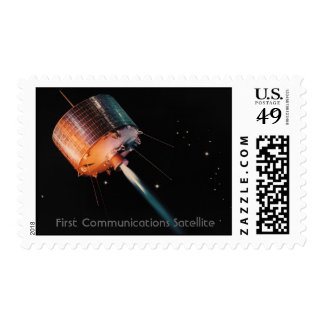 NASA - Primer satélite de comunicaciones Timbre Postal