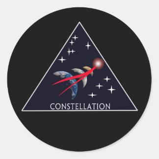 NASA Project Constellation Logo   Round Sticker