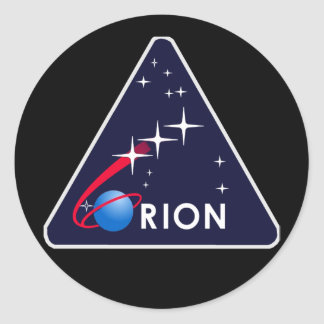 NASA Project Constellation LogoOrion Crew Module Classic Round Sticker