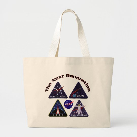 NASA Project Logos Large Tote Bag