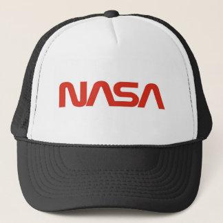 NASA Red Snake Logo LIGHT Trucker Hat