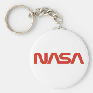 NASA Red Worm Logo Keychain