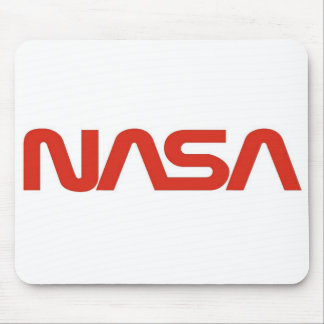 NASA Red Worm Logo Mouse Pad