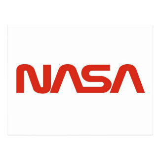 NASA Red Worm Logo Postcard