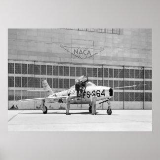 NASA: Republic F84-F on Moffett Field Poster