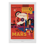 NASA - Retro Mars Tour Travel Poster