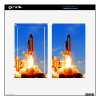 NASA rocket launch to goal and success Decal For Kindle Fire