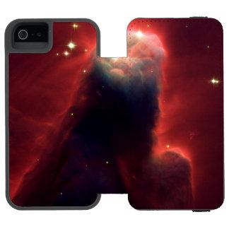 NASA roja del universo del espacio de Hubble de la Funda Cartera Para iPhone 5 Watson