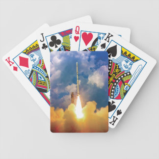 NASA Scout Rocket Launch Liftoff Bicycle Playing Cards