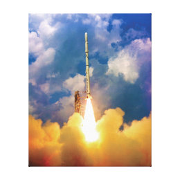 NASA Scout Rocket Launch Liftoff Canvas Print