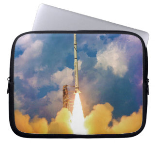 NASA Scout Rocket Launch Liftoff Computer Sleeve