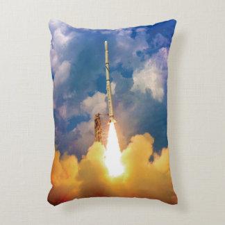 NASA Scout Rocket Launch Liftoff Decorative Pillow