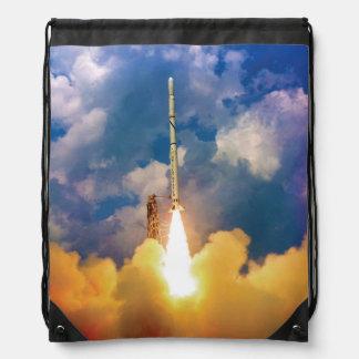 NASA Scout Rocket Launch Liftoff Drawstring Bag