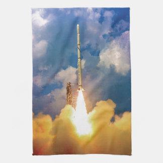 NASA Scout Rocket Launch Liftoff Hand Towel