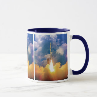 NASA Scout Rocket Launch Liftoff Mug