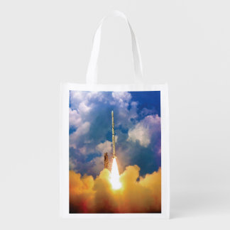 NASA Scout Rocket Launch Liftoff Reusable Grocery Bag