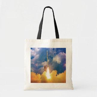 NASA Scout Rocket Launch Liftoff Tote Bag