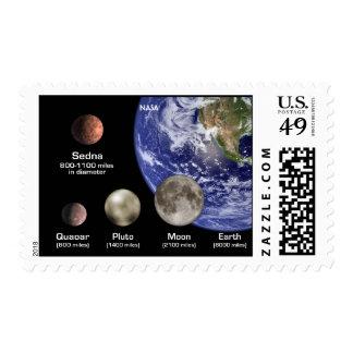 NASA Sedna's size Stamp