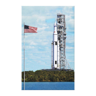 NASA SLS Space Launch System Rocket Launchpad Canvas Print
