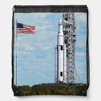 NASA SLS Space Launch System Rocket Launchpad Drawstring Bag