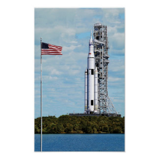 NASA SLS Space Launch System Rocket Launchpad Poster