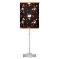NASA | Snoopy Space Suit Black Pattern Table Lamp