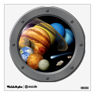 NASA Solar System Montage Porthole Space View Wall Decal