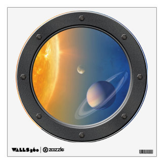 NASA Solar System Space Collage Porthole View Wall Decal