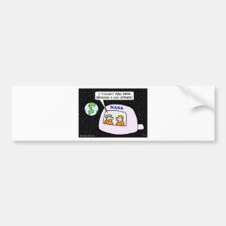 nasa space astronauts can opener bumper sticker