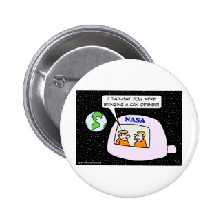 nasa space astronauts can opener 2 inch round button