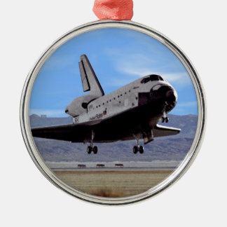 NASA Space Shuttle Atlantis Landing Edwards AFB Metal Ornament